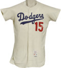 Baseball Collectibles:Uniforms, 1965 Bob Miller Game Worn Jersey. A World Championship season gamer from the talented right-handed reliever that closed out...