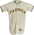 """Baseball Collectibles:Uniforms, 1969 Wally Moon Game Worn Jersey. Famous for his """"Moon shots"""" as a player with the Cardinals and Dodgers, Wally suited up d..."""