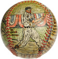 Baseball Collectibles:Others, George Sosnak Folk Art Baseball, Baltimore Orioles. Perhaps onlyLeroy Neiman's name is more recognizable to collectors whe...