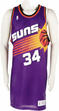 "Basketball Collectibles:Uniforms, 1993-94 Charles Barkley Game Worn Jersey. ""Sir Charles"" arrived inthe desert a year earlier and came within a game of the C..."
