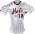 Baseball Collectibles:Uniforms, 1990 Darryl Strawberry Game Worn Jersey. One of the most gifted ballplayers of the last quarter century, Strawberry would h...