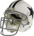 Football Collectibles:Helmets, 2006 DeMarcus Ware Game Worn Throwback Helmet. Heavy abrasions to the front exterior shell and face mask of this throwback ...
