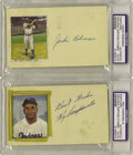 Autographs:Post Cards, Early 1950's Brooklyn Dodgers Signed Government Postcards Lot of 29with PSA-Slabbed Robinson, Campanella. One young Brookl... (Total:3 Items)