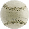 Autographs:Baseballs, 1930 Philadelphia Athletics Team Signed Baseball. This WorldChampionship sphere offers the dreamiest display value possibl...