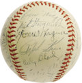 "Autographs:Baseballs, 1947 Pittsburgh Pirates Team Signed Baseball with Honus Wagner. Afull and eminently desirable ""Honus Wagner"" signature mak..."