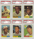Baseball Cards:Lots, 1961 Topps Baseball PSA NM-MT 8 Lot of 14. Solid assortment oftop-quality cards was pulled from an untouched vending case ...