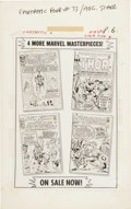 Original Comic Art:Miscellaneous, Fantastic Four #33 - Marvel House Ad Production Piece (Marvel,1964)....