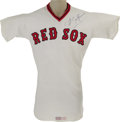 Baseball Collectibles:Uniforms, 1978 Carl Yastrzemski Game Worn Jersey. Twenty-three years at Fenway made this Hall of Fame outfielder a hero to two genera...
