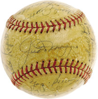 1951 New York Yankees Team Signed Baseball. The most desirable post-war sphere in Yankees history, and arguably the post...