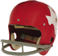 Football Collectibles:Helmets, 1960 Jim Swink Game Worn Helmet. This inaugural season AFL Dallas Texans suspension helmet was once owned and operated by t...