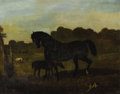 Fine Art - Painting, European:Antique  (Pre 1900), ALFRED DE DREUX (French 1810-1860). Mare And Colt, 1847. Oil on canvas. 32 x 40-1/2 inches (81.3 x 102.9 cm). Signed and...