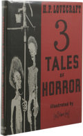 Books:First Editions, H. P. Lovecraft: 3 Tales of Horror. (Sauk City: ArkhamHouse, 1967), first edition, 135 pages, illustrated by Lee Brown...
