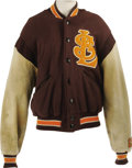 "Baseball Collectibles:Uniforms, Late 1930's St. Louis Browns Game Worn Jacket. Though the ""other""St. Louis club was a perpetual bottom-dweller during the ..."