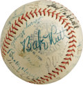 Autographs:Baseballs, Late 1930's Hall of Famers Multi-Signed Baseball with Ruth, Gehrig,Foxx. A dazzling constellation of stars makes this OAL ...
