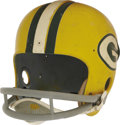 Football Collectibles:Helmets, Mid-1960's Paul Hornung Game Worn Helmet with Photo Match. The Notre Dame Heisman Trophy winner entered the National Footba...