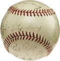 Autographs:Baseballs, 1937 New York Yankees Team Signed Baseball. This pinstripedpowerhouse left the rest of the American League in the dust in ...
