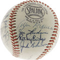 Autographs:Baseballs, 1952 Brooklyn Dodgers Team Signed Baseball. An exceptional high-grade sphere from the National League pennant-winning Bums,...
