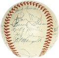 Autographs:Baseballs, 1951 New York Yankees Team Signed Baseball. Widely considered to bethe most desirable of all post-war team balls are those ...