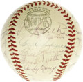 Autographs:Baseballs, 1953 New York Yankees Team Signed Baseball. The Yanks made Bums ofthe Brooklyn Dodgers again this October, extending their ...