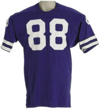 9b81f7b4406 Late 1970's Drew Pearson Game Worn Jersey. Highly-desirable blue durene  Dallas Cowboys gamer