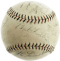 Baseball Collectibles:Balls, 1926 World Series Game Four Used Baseball Signed by Babe Ruth & More. We've all heard the story before, and while there are ...