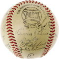 Autographs:Baseballs, 1949 Brooklyn Dodgers Team Signed Baseball. Another National League Championship season for the Bums, who would once again f...