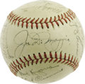 "Autographs:Baseballs, 1951 New York Yankees Team Signed Baseball. The rapturous joy feltby Giants fans in the wake of Bobby Thomson's famous ""Sho..."