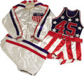 Basketball Collectibles:Uniforms, 1942 All-American Basketball Game Worn Uniform Package. If yourinitial reaction is to think of the Harlem Globetrotters, yo...