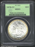 Morgan Dollars: , 1878-CC $1 MS63 PCGS. Mintage: 2,212,000. The latest Coin ...