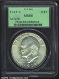 Eisenhower Dollars: , 1971-S $1 Silver MS66 PCGS. Mintage: 2,600,000. The latest ...