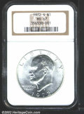 Eisenhower Dollars: , 1972-S $1 Silver MS67 NGC. Mintage: 2,193,056. ...