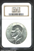 Eisenhower Dollars: , 1974-S $1 Silver MS66 NGC. Mintage: 1,900,156. The latest ...