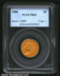 """Proof Indian Half Eagles: , 1908 $5 PR 65 PCGS. Mintage: 167. The latest Coin World """"..."""