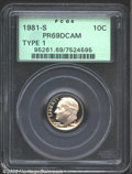 Proof Roosevelt Dimes: , 1981-S 10C Type One PR 69 Deep Cameo PCGS. ...