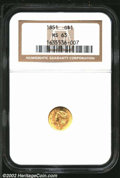 Gold Dollars: , 1851 $1 MS63 NGC. Mintage: 3,317,671. ...