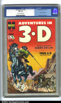 Adventures in 3-D #2 (Harvey, 1954). CGC NM- 9.2 Cream to off-white pages. Overstreet 2001 NM 9.4 value = $140