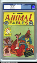 Golden Age (1938-1955):Funny Animal, Animal Fables #3 (EC, 1947). CGC FN- 5.5 Cream to off-white pages.Overstreet 2001 FN 6.0 value = $64....