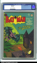 Golden Age (1938-1955):Superhero, Batman #82 (DC, 1954). CGC FN- 5.5 Light tan to off-white pages. Overstreet 2001 FN 6.0 value = $171. ...