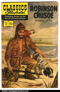 Classics Illustrated Lot (Gilberton). All are reprints. Includes: #10 ROBINSON CRUSOE ; #18 HUNCHBACK OF NOTRE DAME; #63...
