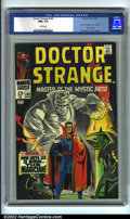 Silver Age (1956-1969):Superhero, Doctor Strange #169 (Marvel, 1968). CGC NM+ 9.6 White pages. First Dr. Strange in his own title; origin retold. Overstreet 2...