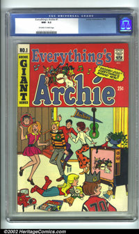 Everything's Archie #1 (Archie, 1969). CGC NM- 9.2 Off-white to white pages. Overstreet 2001 NM 9.4 value = $80