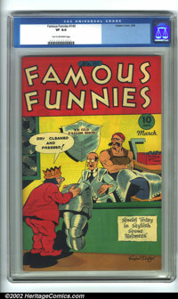 Famous Funnies #140 (Eastern Color, 1946). CGC VF 8.0 Tan to off-white pages. Overstreet 2001 FN 6.0 value = $23.50; NM...