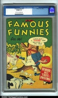 Golden Age (1938-1955):Humor, Famous Funnies #147 (Eastern Color, 1946). CGC VF/NM 9.0 Light tan to off-white pages. Overstreet 2001 NM 9.4 value = $55....