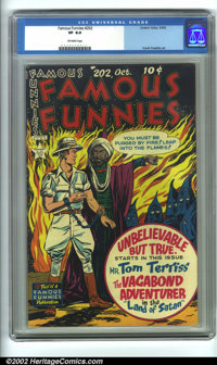 Famous Funnies #202 (Eastern Color, 1952). CGC VF 8.0 Off-white pages. Overstreet 2001 FN 6.0 value = $17; NM 9.4 value...
