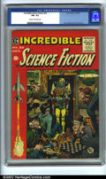Golden Age (1938-1955):Science Fiction, Incredible Science Fiction #32 (EC, 1955). CGC FN+ 6.5 Cream tooff-white pages. Overstreet 2001 FN 6.0 value = $105....