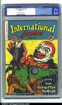 International Comics #4 (EC, 1947). CGC VF- 7.5 Cream to off-white pages. Overstreet 2001 FN 6.0 value = $116; NM 9.4 va...