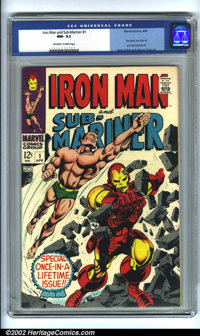 Iron Man & Sub-Mariner #1 (Marvel, 1968). CGC NM- 9.2 Off-white to white pages. Pre-dates IRON MAN #1 and SUB-MA...