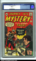 Silver Age (1956-1969):Superhero, Journey into Mystery #87 (Marvel, 1962). CGC NM 9.4 Off-whitepages. Overstreet 2001 NM 9.4 value = $350....