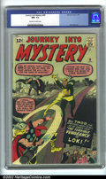 Silver Age (1956-1969):Superhero, Journey into Mystery #88 (Marvel, 1963). CGC NM- 9.2 Off-white to white pages. Overstreet NM 9.4 value = $350....