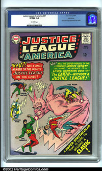 Justice League of America #37 Bethlehem pedigree (DC, 1965). CGC VF/NM 9.0 Off-white pages. First Silver Age appearance...